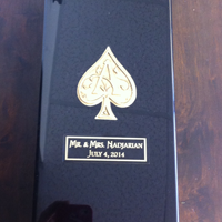Engraved Ace of Spades Champagne