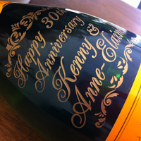 Engraved Veuve Clicquot Champagne