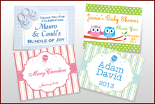 Custom Labels - Baby Shower