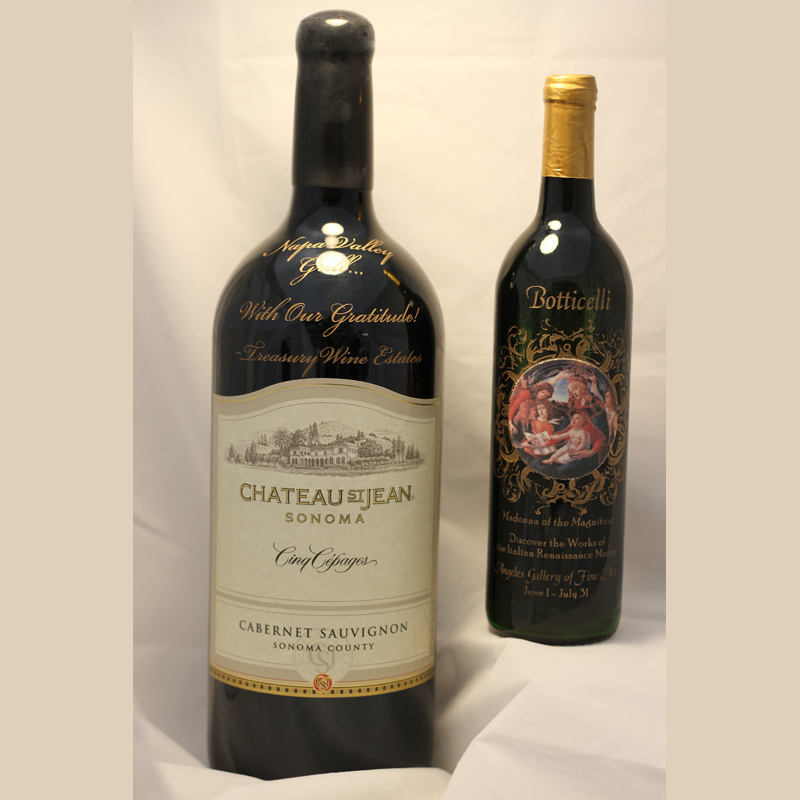 Large Bottle Wine Engraving