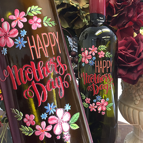 Custom Printed Wine Bottle