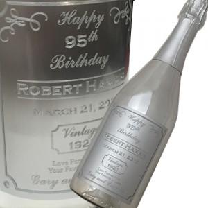 Custom Engraved Label Champagne