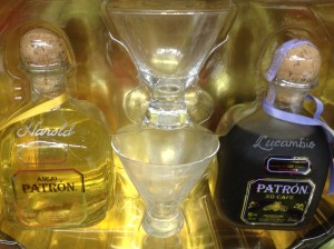 Tequila Patrón on-site engraving